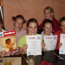 Klasse 8b, Starnberg 2006 Projekt Lesen und Helfen