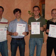 l-r: Stephan Bender, Jonas Ritter, Timo Christ, Gregory Nohr